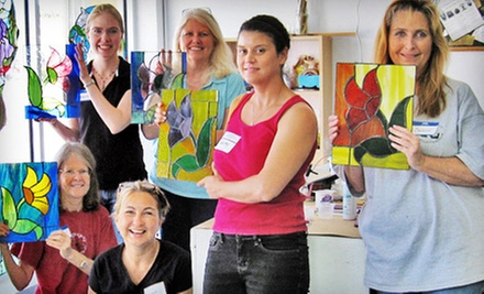 Four-Week Beginner Stained Glass Class With or Without Materials Included at McMow Art Glass (Up to 61% Off)