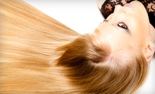 Keratin Hair Treatment with Optional Haircut and Style at Studio 210 Salon (Up to 72% Off)