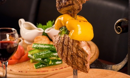 Rodizio Dinner for 2 or 4 with Limeade and Mousse at Rodizio Grill  (40% Off)