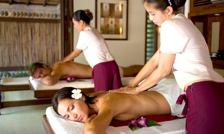 Massage with Optional Reflexology or Acutapping, or Couples Massage at Equilibrium Zen Gym (Up to 63% Off)