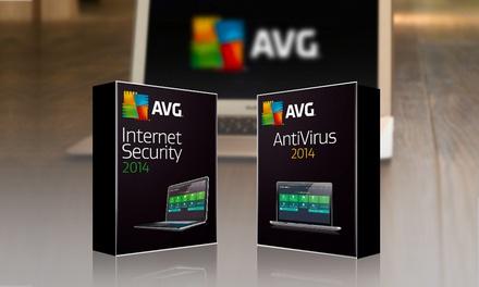 Licença de 2 anos para AVG Antivirus ou Internet Security 2015 desde 12,90€