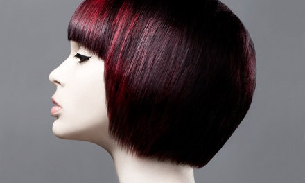 Haircut and Color Services at Barron's London Salon, New Talent (Up to 45% Off). Two Options Available.