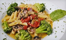 Italian Cuisine at The Vineyards Trattoria and Pizzeria (Half Off). Four Options Available.