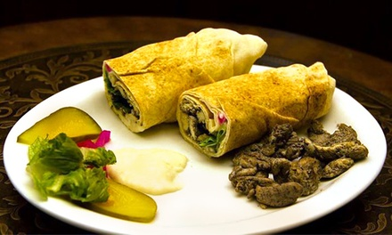 Middle Eastern Cuisine for Dine-In, Take-Out, or Delivery at 1001 Nights Cuisine (Up to 43% Off)