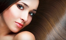 Haircut and Style with Moroccanoil Treatment or Partial or Full Highlights at Cutz Meridian (Up to 63% Off)