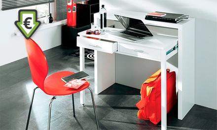 Consola secretária de cor branco brilho por 99 € (desconto de 75%) com envio gratuito