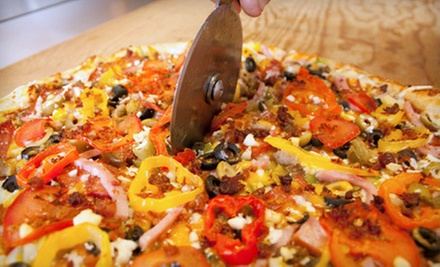 $22 for a Pizza Meal with Salads and a 2-Litre Pop for Two at Okanagan Pizza ($44.22 Value)