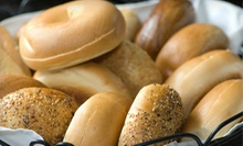 One or Two Dozen Bagels with Cream Cheese at Bonnies Bagels and Deli (Up to 51% Off)