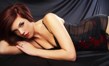 Boudoir Photo-Shoot Package with Airbrush Makeup and Hairstyling or $19 for $100 Worth of Photo Sessions and Portraits