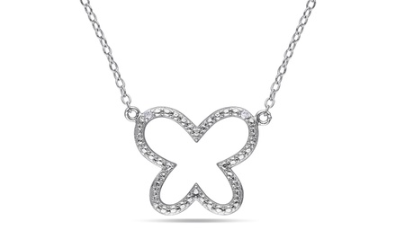 0.01 CTTW and 0.015 CTTW Diamond Pendant Necklaces