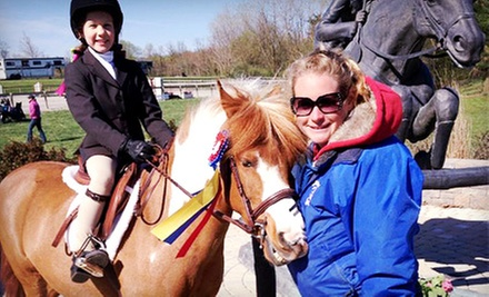One, Three, or Five 60-Minute Private Horseback-Riding Lessons at Encore Farms (Up to 72% Off)