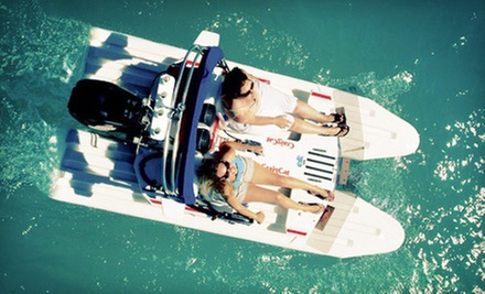 One- or Two-Hour CraigCat Boat Rental for Two from Blue Water Powerboat Rentals (Up to 55% Off)