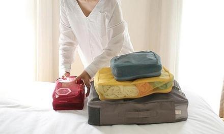 Um packs de 4 organizadores para mala de viagem por 16,99€ ou dois por 29,99€