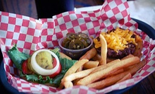 Pub Food or Music-and-Dinner Package at Puffabellys Old Depot Restaurant (Half Off). Four Options Available.