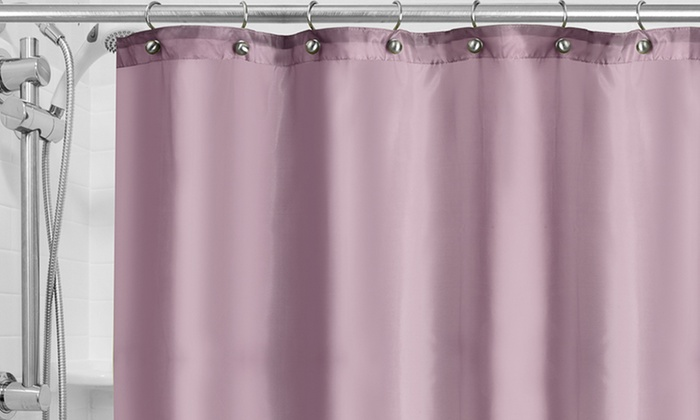 Mildew-Resistant, Grommeted Fabric Shower-Curtain Liners. Multiple ...
