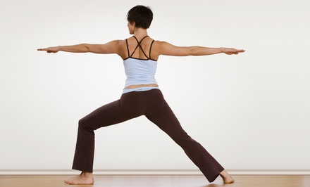 5 or 10 Drop-In Yoga, Pilates, or Meditation Classes Plus a Yoga DVD at Taylor Yoga (Up to 71% Off)