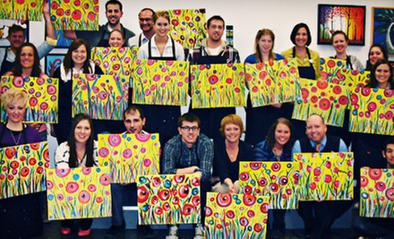 Adult BYOB Canvas-Painting Session for One or Two at Glazed Expressions (Up to 55% Off)