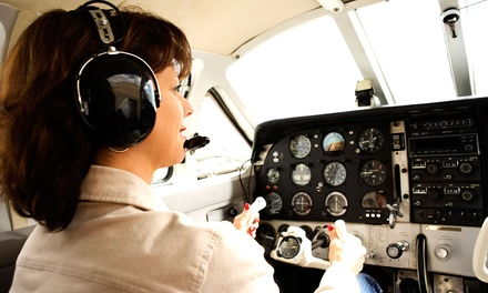 $90 for an Introductory Flight Course for Two with Ground and Air Training from AirVentures ($180 Value)
