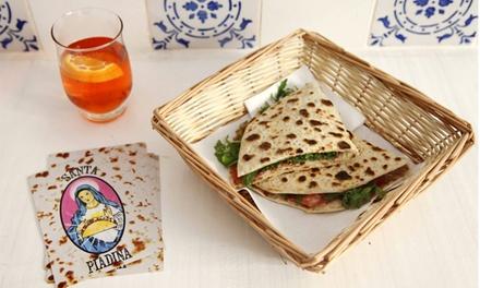 Santa Piadina — Bairro Alto: menu italiano para 1 ou 2 pessoas com pratos principais, bebidas e sobremesas desde 6€
