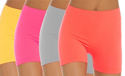12-Pack of Women's Seamless Basic Shorts