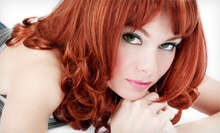 Haircut with Single-Process Color or Full Highlights at Hair Images (Up to 53% Off)