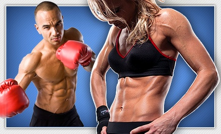 4 or 10 Kickboxing Classes with Personal-Training Session and Boxing Gloves at iLoveKickboxing.com (Up to 74% Off)