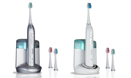 Diamond Pro Series Ultrasonic Toothbrush and UV Brush Sanitizer