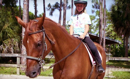 Semiprivate Trail Ride and Horseback-Riding Lesson, or Private Horseback-Riding Lesson at Casperey Stables (Half Off)