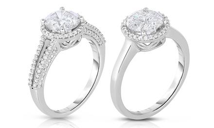 2.00 CTTW Diamond Rings in 14K White Gold