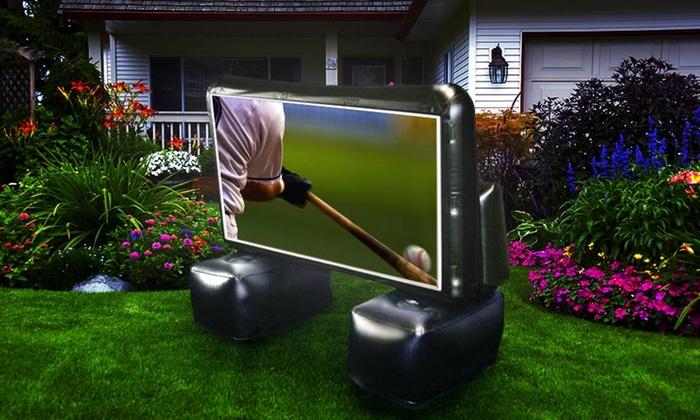 outdoor inflatable projector screen free returns