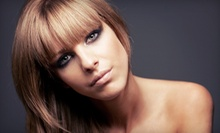 Haircut and Style with Option for Partial Highlights or Lowlights at American Beauty (Up to 55% Off)