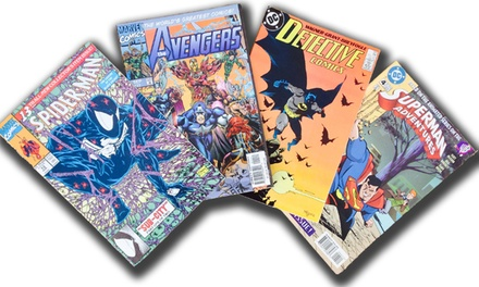 Collection of 20 or 60 assorted DC/Marvel Comic Books from Searchlight Comics (Up to 55% Off)