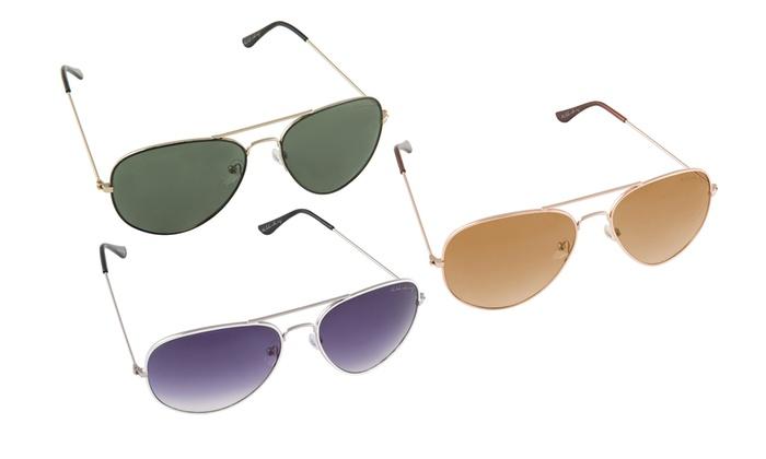 Groupon Goods Global GmbH: Tris di occhiali da sole Bilderberg modello Aviator. Varie opzioni disponibili da 24,89 €