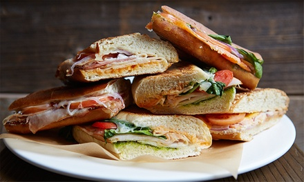 Paninis and Salads at The Panini Republic (Up to 40% Off). Three Options Available.