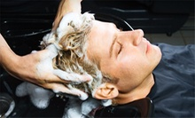 One or Three Haircut Packages with Hot Towels and Scalp Massage at Cutting Room for Men (Up to 59% Off)