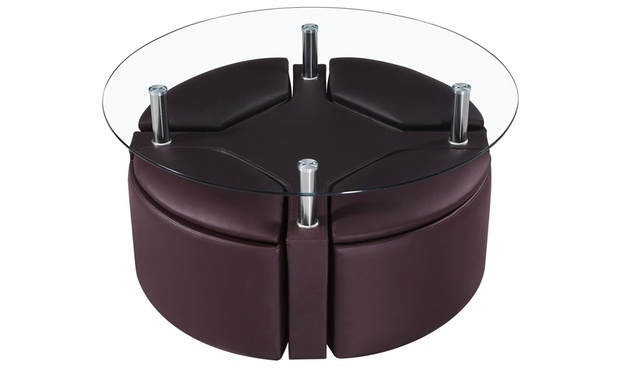 Coffee Table And Four Stools Groupon Goods
