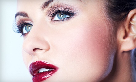 One Full Set of Eyelash Extensions with Optional Airbrush Makeover at Hidden Beauty Makeup Artist (Up to 51% Off)