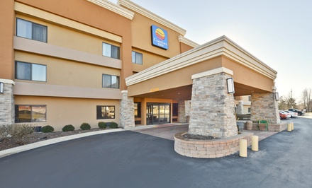 groupon daily deal - Stay at Quality Inn Hoffman Estates in Chicagoland. Dates into July.