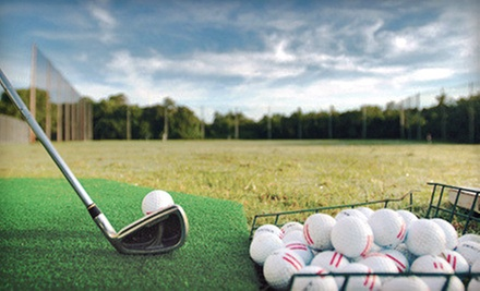 Range Balls, Batting-Cage Tokens, or a Round of Mini Golf for Four Adults or Children at Legends Golf (Half Off)