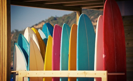 Two-Hour Surfing Lesson for One or Two from Summer Surf Lessons (Up to 70% Off)