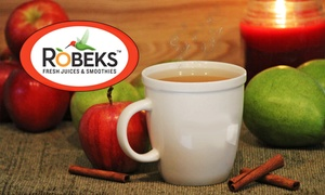 $14 For 4 Groupons, Each Good For $6 Worth Of Hot Beverages, Smoothies, Juice, And Snacks At Robeks ($24 Total Value)