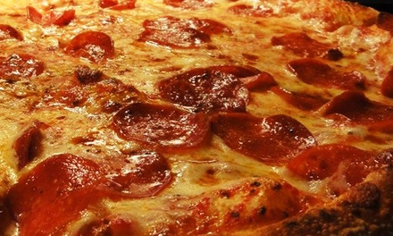 Pizza, Wings, and Seafood at Santisi Brothers Pizzeria & Sports Grill (Up to 43% Off). Two Options Available.