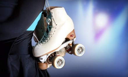 Roller Skating for One or Four with Skate Rental, Popcorn, and Soda at Jellybeans Skate Center (Up to 57% Off)