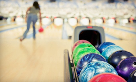 Bowling for 4 with Shoe Rental and Pizza at Bumpers Bowling &amp; Family Fun Center (Up to 66% Off). Two Options Available.
