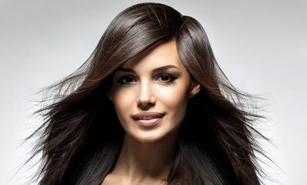 Haircut with Conditioning Treatment and Single-Process Color or Highlights at Shear Majik Salon (49% Off)