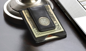 $39.99 For A Personalized Black Leather Money Clip From Monogram Online ($67.99 Value)