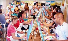 2.5-Hour BYOB Painting Class for One or Four with All Materials Included at The Fun Palette (Up to 56% Off)
