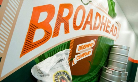Brewery Tour with Samplers and Optional T-shirts for One or Two at Broadhead Brewing Company (Up to 46% Off)