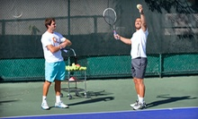 One or Three Private, One-Hour Tennis Lessons at Caas Tennis (Up to 54% Off)