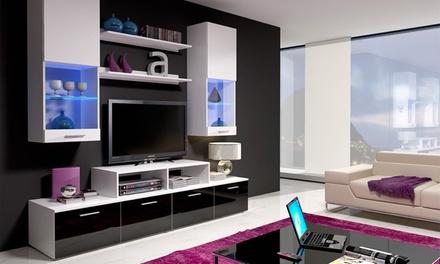 Conjunto de móveis de sala com LED de modelo Nicky por 309€ ou de modelo Eva 2 por 499€